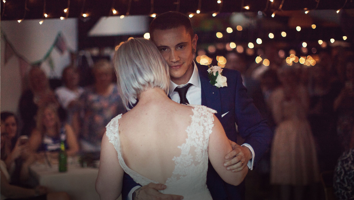 Couple in love dancing looking dreamy at Hagglers Corner wedding