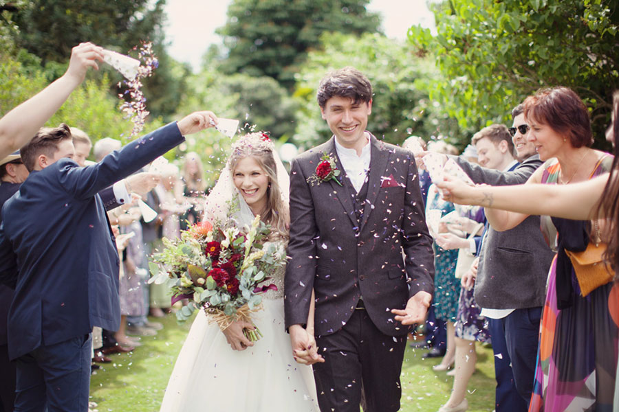 The Garden House B&B in Stamford wedding with natural photography of a beautiful summer DIY Pinterest small intimate garden wedding with a short bride and tall groom