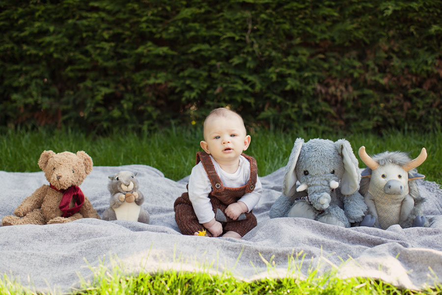 Cute Chesterfield baby photoshoot photographer in Sheffield South Yorkshire baby posing ideas