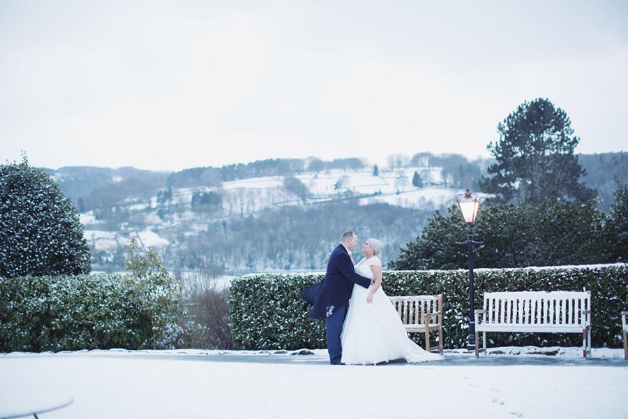 The Maynard Arms wedding | Sheffield Derbyshire Peak District wedding venue reception | Natural wedding photography | Beautiful snowy winter wedding in the countryside