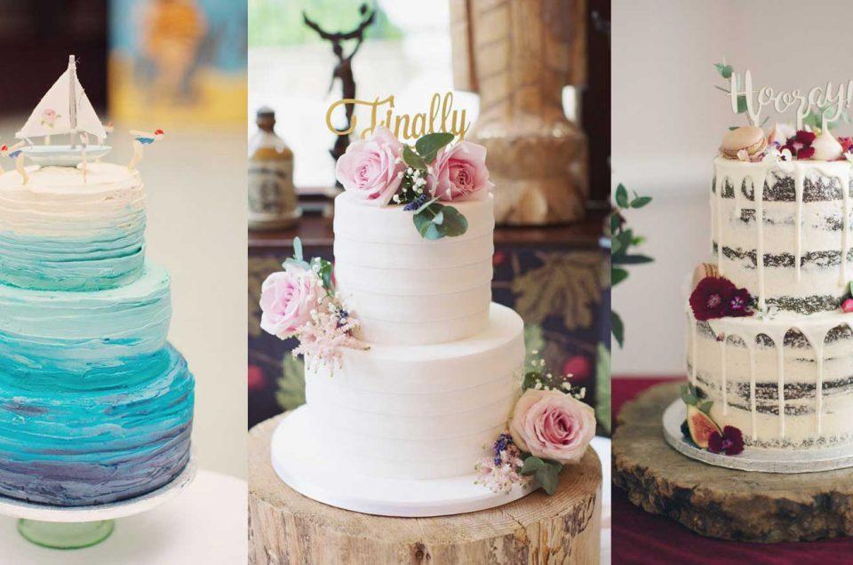 Photos of 3 stunning wedding cakes