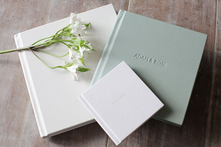 Sasha Lee Photography Storybooks pretty pastel wedding albums by Folio Albums large medium and parent book storybook
