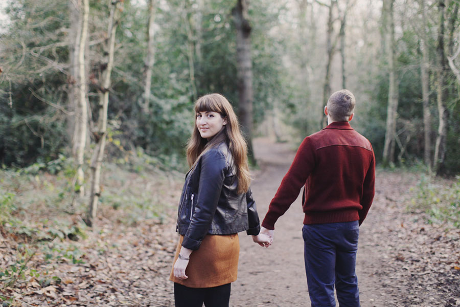Ellie & Ollie ♡ Engagement Photoshoot in Ecclesall Woods, Sheffield