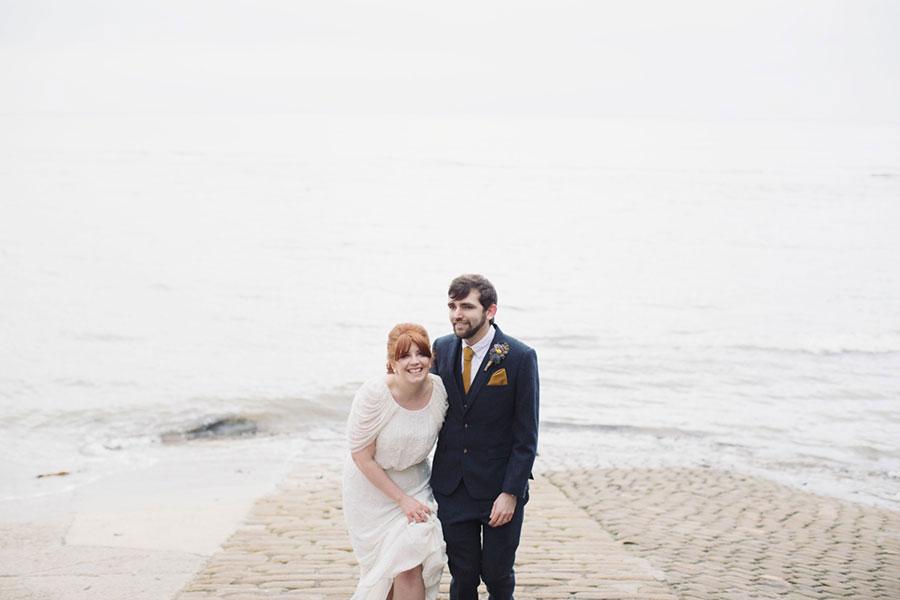 Robin Hood's Bay wedding with natural wedding photography by Sasha Lee Photography