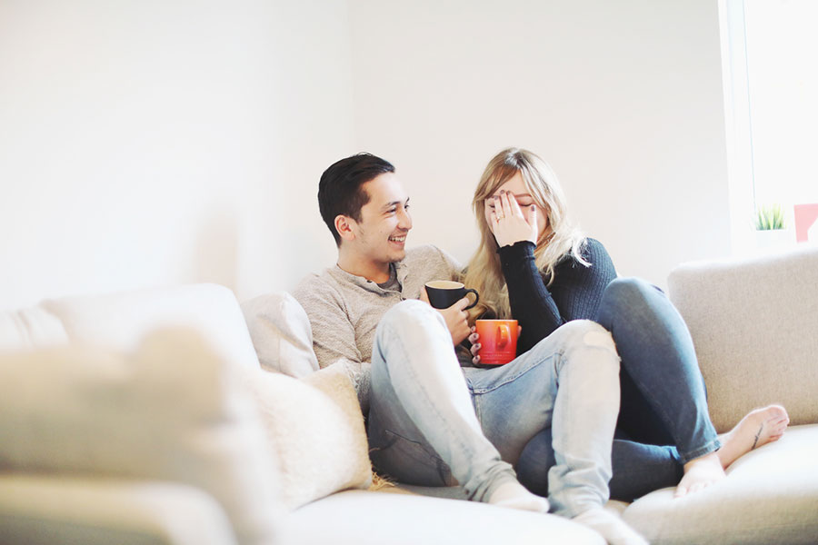 Cute engagement shoot photoshoot idea | Baking at home couple shoot | Engagement & wedding photography Sheffield | South Yorkshire natural photographer | Cute couple baking brownies at home