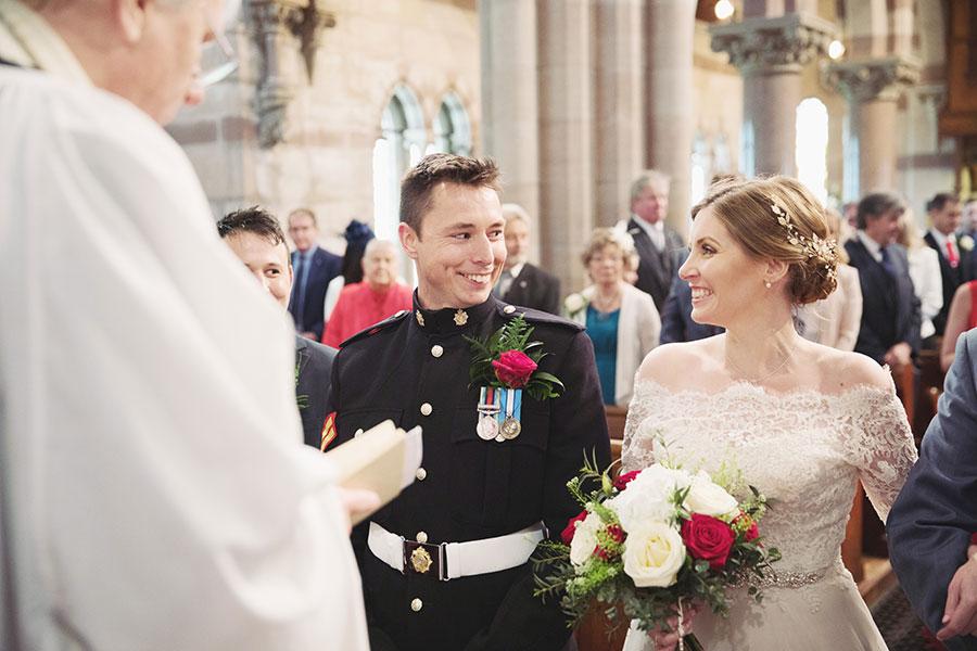 St. Paul's Church Hooton wedding | Hooton wedding | Christian wedding | Military wedding | Beautiful English church wedding venue | Natural wedding photography