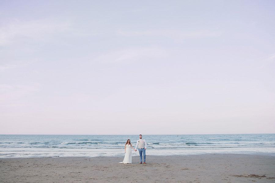 Robin Hood's Bay wedding photography | Scarborough natural wedding photography | Yorkshire UK seaside wedding venue | Raithwaite Estate wedding | Sandsend beach | Pink sunset beach wedding