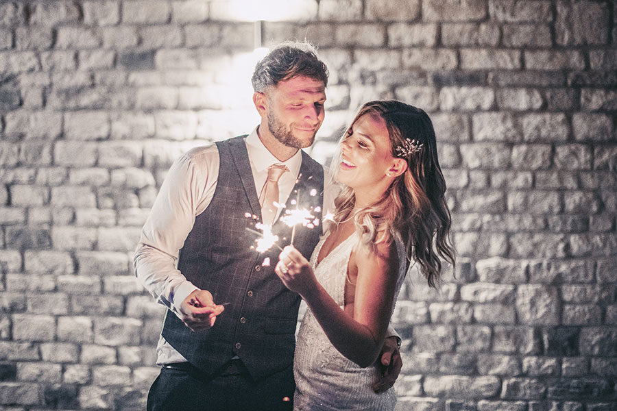 Blackwell Grange wedding | Cotswolds wedding photography | Natural wedding photography Cotswolds | Blackwell Grange wedding photographer | Rustic barn wedding venue North England | Shipston-on-stour | sparkler tunnel | Sasha Lee Photography