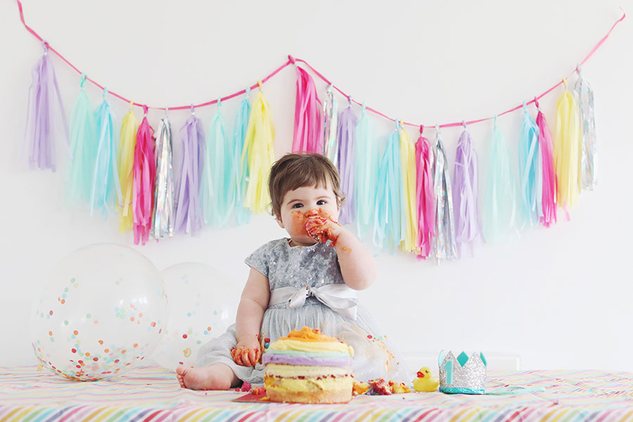 Baby cakesmash photoshoot cake smash | Sheffield family photoshoot | Yorkshire baby photographer | Doncaster | Child photography | Natural child photography | Natural baby photography | Natural family photography | Sheffield Yorkshire Derbyshire | Rainbow theme cake smash