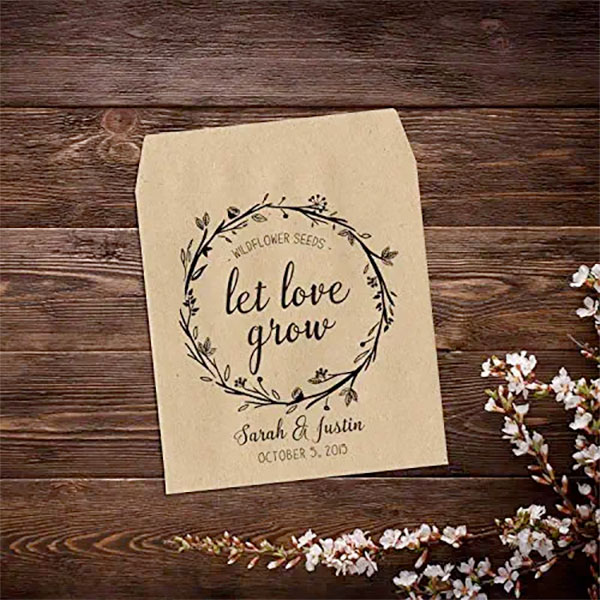 wedding party favour idea | cute flower seeds gift