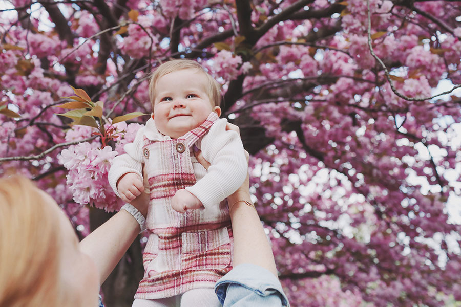 child photoshoot sheffield | child photography yorkshire | cute family photoshoot in the park Sheffield with blossom